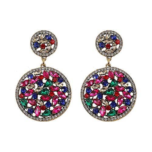- Dvacaman Crystal Dangle Earrings for Women - Statement Rhinestone Drop Friendship Earrings, Idea Gift for Mom, Sister and Friend (Multi)