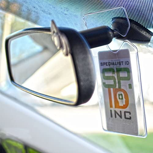 2-Pack Clear Vertical Vehicle Parking Pass Hang Tag Holder by Specialist ID
