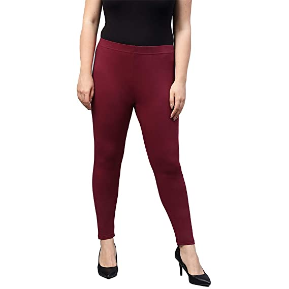 Buy Go Colors Women S Plus Sizes Ankle Length Leggings At Amazon In