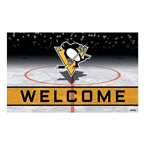 FANMATS 21284 Team Color Crumb Rubber Pittsburgh Penguins Door Mat