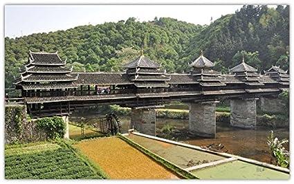 Amazon com : chengyang-bridge-chengyang-wind-rain-bridge-bridge