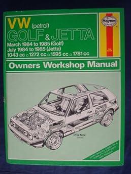volkswagen petrol golf and jetta 1984 85 owner s workshop manual rh amazon com 1985 VW Golf Race Car VW Golf MK2
