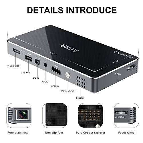 Mini projector portable pico video projector for iphone for Bluetooth projector for iphone 6