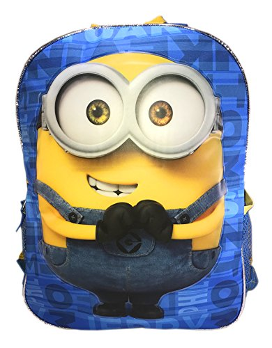 Despicable Me 2 In 1 Flip Strap 16  Backpacks Double Trouble