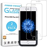 iPhone 6S Plus, iPhone 6 Plus Screen Protector, Proud Focus Tempered Glass Screen Protector for Apple iPhone 6S Plus and iPhone 6 Plus with Easy Installation Tool, 10H Hardness, Full Installation Kit