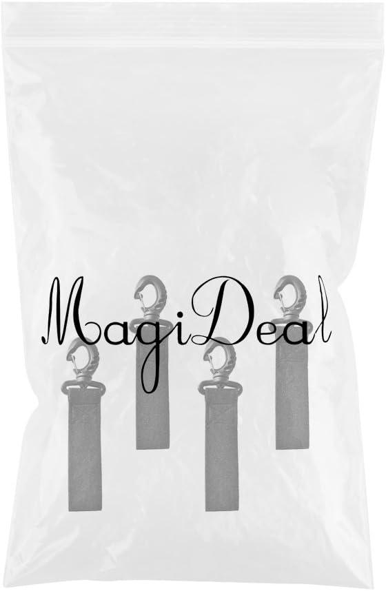 MagiDeal 4pcs Clip Pour Pagaie De Kayak Bateau Clip Support en Nylon Sans Forage