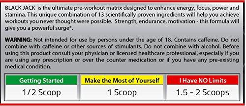 Pre Workout Powder Supplement Drink Black Jack Nitric Oxide Booster Niacin Creatine Men Women Vastly Improved Formula Enhances Muscle Pumps Energy Power Stamina Watermelon 375g/13.2 oz. 30 servings