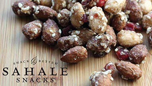 Sahale Snacks, Nut Snacks in a Resealable Pouch Variety of 3 Flavors ( Maple Pecans, Cherry Cocoa Coconut, Honey Almonds Glazed ) Pack of 6 by Sahale Snack (Image #6)