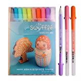 Sakura Pgb10c52 Souffle 10-piece Gelly Roll Blister Card Gel Ink Pen Set, Medium Point 0.8mm, Assorted Colors