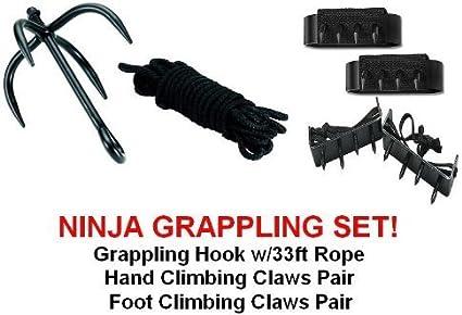 Ninja Grappling Set Climbing Hook Foot Hand Claws Gear by SuperKnife