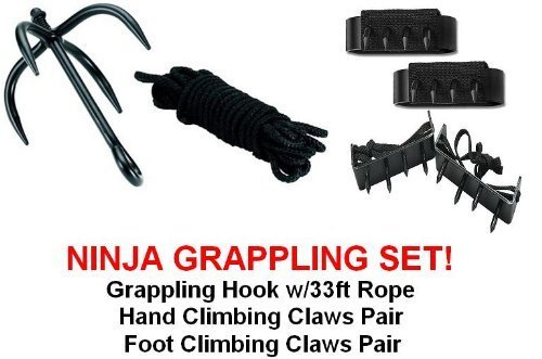 Ninja Grappling Set Climbing Hook Foot Hand Claws Gear by SuperKnife