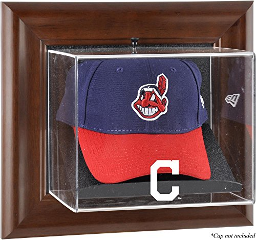 - Mounted Memories Cleveland Indians Brown Framed Wall Mounted Logo Cap Case