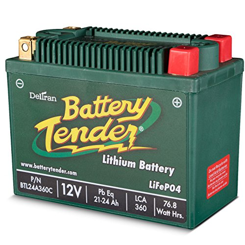 Lithium Iron Phosphate 12V 24AH 360CCA Replaces Yuasa YTX20HL-BS-PW by Battery Tender