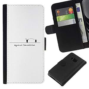 NEECELL GIFT forCITY // Billetera de cuero Caso Cubierta de protección Carcasa / Leather Wallet Case for HTC One M7 // Gente Distancia