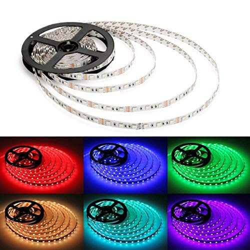 Alfa Lighting 16.4 Ft/5m 150 LEDs Flexible LED Strip 5050 SMD RGB 12V 2A + 44 Keys Remote Control [Energy Class A] by ALFA