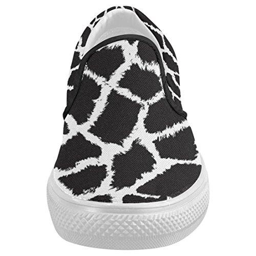 Interestprint Cute Giraffe Casual Slip-on Canvas Moda Mujer Zapatillas Zapatos