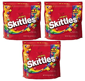 Amazon.com : Skittles Original Candy Bag, 2 pounds 9 oz Set ...
