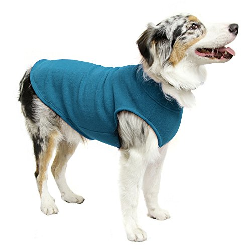 Picture of Gooby - Stretch Fleece Vest, Pullover Fleece Vest Jacket Sweater for Dogs, Steel Blue, 6X-Large