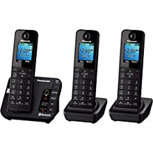 Panasonic KX-TGH263B Link2Cell Bluetooth Enabled Phone with Answering Machine & 3 Handsets (Discontinued By Manufacturer)