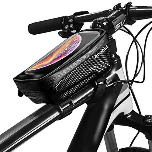 Acmind Bike Phone Mount Bag, Waterproof Bike Frame Handlebar Bag, Bicycle Top Tube Cycling Accessories with Waterproof…