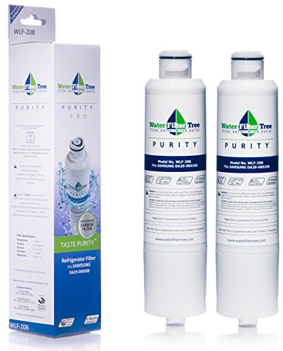 2 X WLF-20B - Samsung Refrigerator Replacement Water Filter for DA29-00020B - Twin Pack