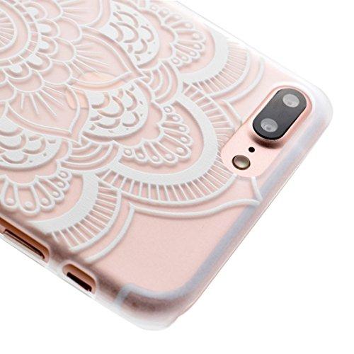 MXNET IPhone 7 Plus Fall, Mesh Blumenmuster Transparent PC Schutzhülle CASE FÜR IPHONE 7 PLUS ( SKU : Ip7p1456a )