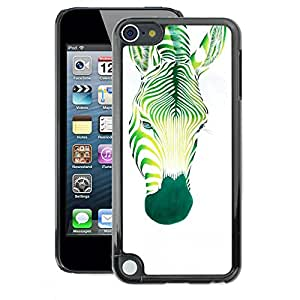 A-type Arte & diseño plástico duro Fundas Cover Cubre Hard Case Cover para Apple iPod Touch 5 (Zebra Art Painting Watercolor Tattoo)