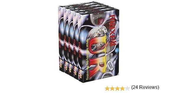 Maxell MAX-UR90P5 - Cinta de audio/video, Pack de 5