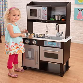 Amazon.com : KidKraft Espresso Toddler Play Kitchen with ...