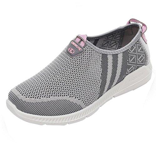 de Mujer Mujer De Mujeres Verano Cinnamou Deportivas Zapatos Gris Sneaker Malla por Plataforma Mocasines casa Estar Zapatillas Antideslizante los Respirable Zapatillas Calzado Casuales de qUXS6w