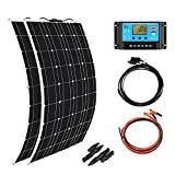 XINPUGUANG 2pcs 100w Monocrystalline Solar Panel Flexible 200W 12V Solar System kit...