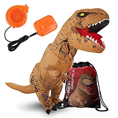 Dinosaur Costume Inflatable TRex Costume Halloween Originals Adult Inflatable Dinosaur Costume