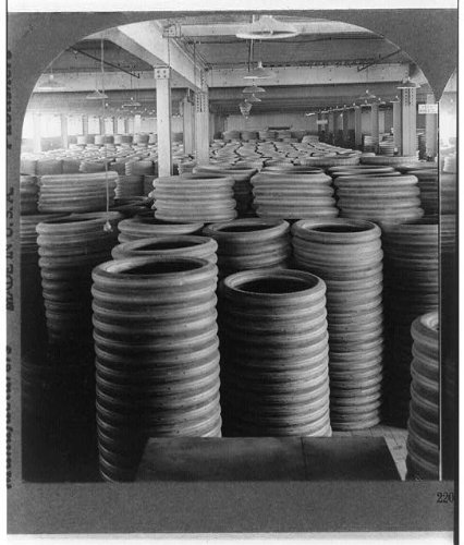 Stock Ohio - Photo: Stock room of a large rubber factory--Automobile Tire Department,Akron,Ohio