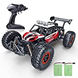 RC Car, SPESXFUN Newest 2.4 GHz High Speed Remote Control Car 1/16 Scale Off Road RC Trucks with Two Rechargeable Batteries, Racing Toy Car for All Adults and Kids(Red)