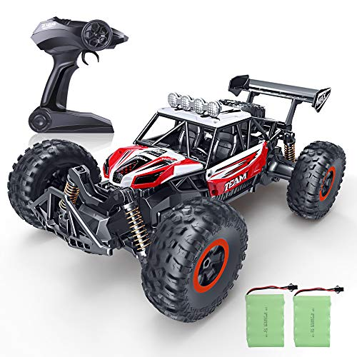 RC Car, SPESXFUN 2018 Newest 2.4 GHz High Speed Remote Control Car 1/16 Scale Off Road RC Trucks Two Rechargeable Batteries, Racing Toy Car All Adults Kids(Red)
