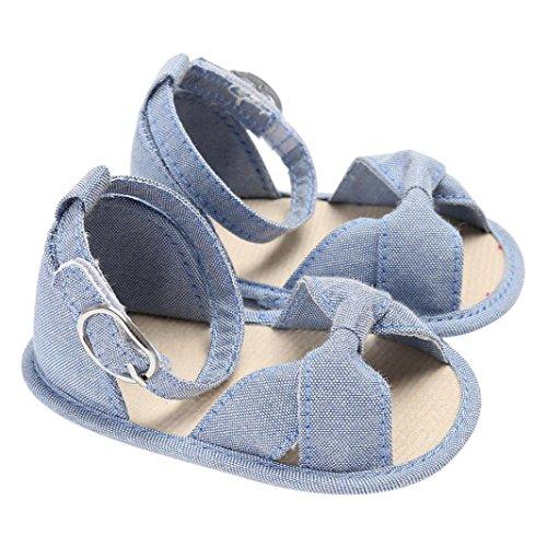 Igemy 1 Paar Baby Sandals Kinder Kinder Mädchen Soft Sole Krippe Kleinkind Neugeborene Schuhe Hellblau