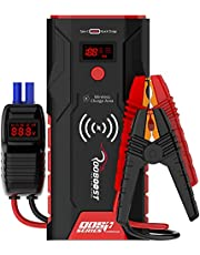 Rooboost™ UPGRADED 1500A Peak Car Jump Starter (Up to 7L Gas and 5L Diesel) with Digital Display, Wireless Phone Charger, USB Quick Charge 3.0, Digital Smart Jumper Cable, Type-C In/Out Portable Power Bank, Built-in LED Light, 12V, QDSP Series, RB-PRO1500