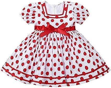 iiniim Baby Girls Rose Flower Wedding Princess Dress