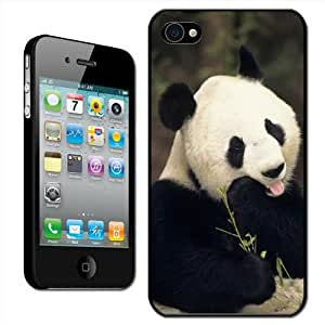 Fancy A Snuggle - Carcasa rígida para iPhone 4 y 4S con diseño de oso panda