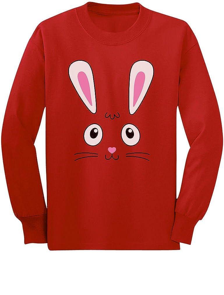Little Easter Bunny Face Cute Toddler//Kids Long Sleeve T-Shirt