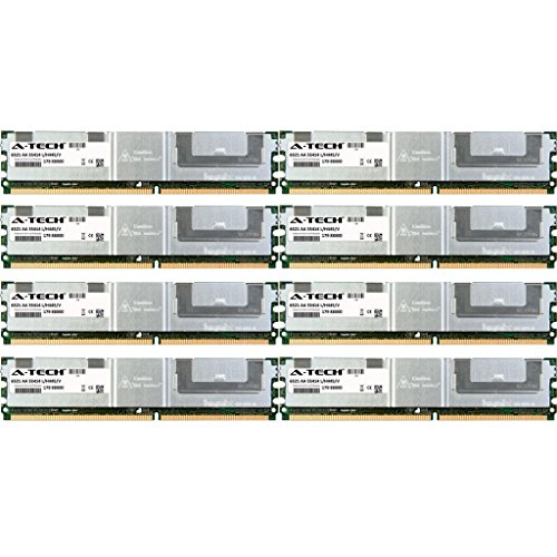 A-Tech 64GB KIT (8 x 8GB) For HP-Compaq ProLiant Series BL460c BL460c Server Blade BL480c Server Blade BL680c G5 DL140 G3 DL160 G5 DL160 G5p DL. DIMM DDR2 ECC Fully Buffered PC2-5300 667MHz RAM Memory