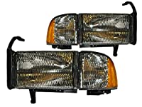 PERDE Dodge Ram Lite Smoke Halogen Headlights
