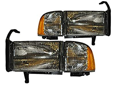 PERDE Dodge Ram Lite Smoke Halogen Headlights