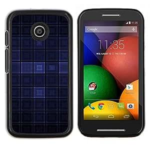 Caucho caso de Shell duro de la cubierta de accesorios de protección BY RAYDREAMMM - Motorola Moto E - Dark Blue Modern Wallpaper cuadros Square