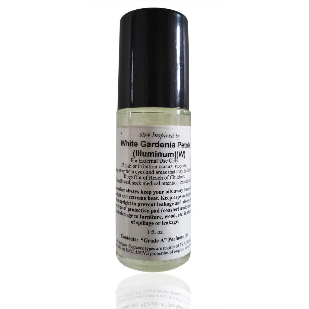 White Gardenia Petals (Women) Illuminum Type Perfume Oil in a 1 oz Roll-On Bottle