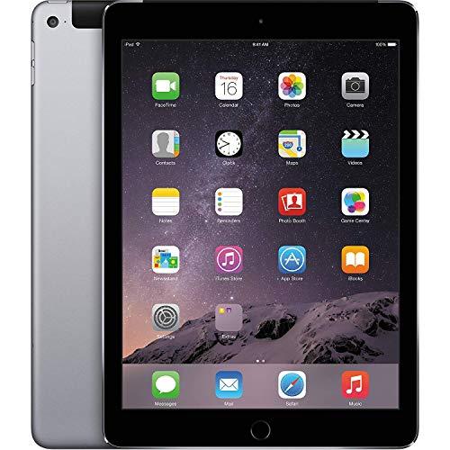 Apple iPad Air 2 MH2M2LLA_Space_Gray 9.7in Cellular Unlocked (GSM) + WiFi 64GB iPad- Tablet (Renewed) (Ipad Mini 64 Gb Wifi 3g)