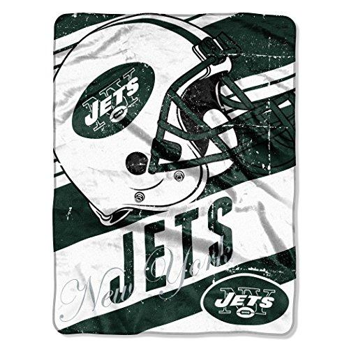 The Northwest Company NFL New York Jets Deep Slant Micro-Raschel Throw, Green, 46 x 60-Inch
