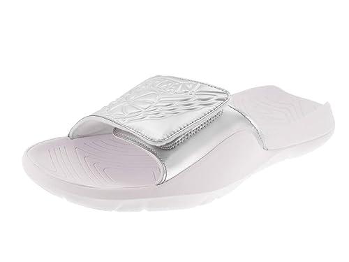8f9af3baa4a Amazon.com | Nike Men's Jordan Hydro 7 Slide Sandals, AA2517 (12 D(M) US,  White/Metallic Silver) | Sandals