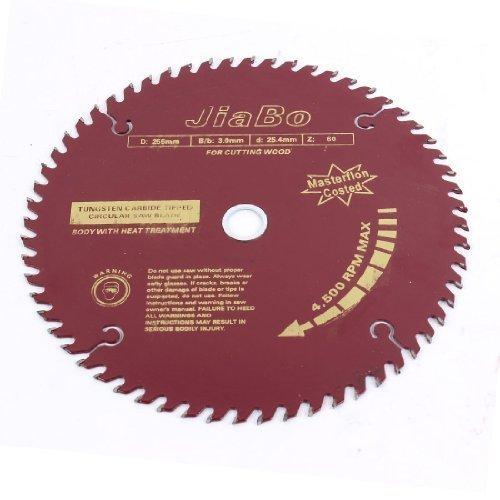 sourcingmap® Holz-schneidwerkzeug 4500PRM Gang 60 T 255mm 25.4 cm Durchmesser Sägeblatt