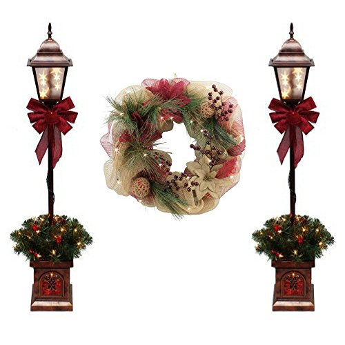 Outdoor Lighted Pine Trees - 2